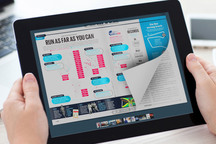 Photo Flip Books on a tablet